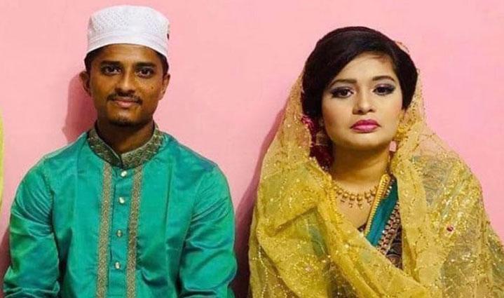 ক্রিকেটার মেহেদী হাসান ও তার স্ত্রী ঋতু। ছবি :- সংগৃহীত